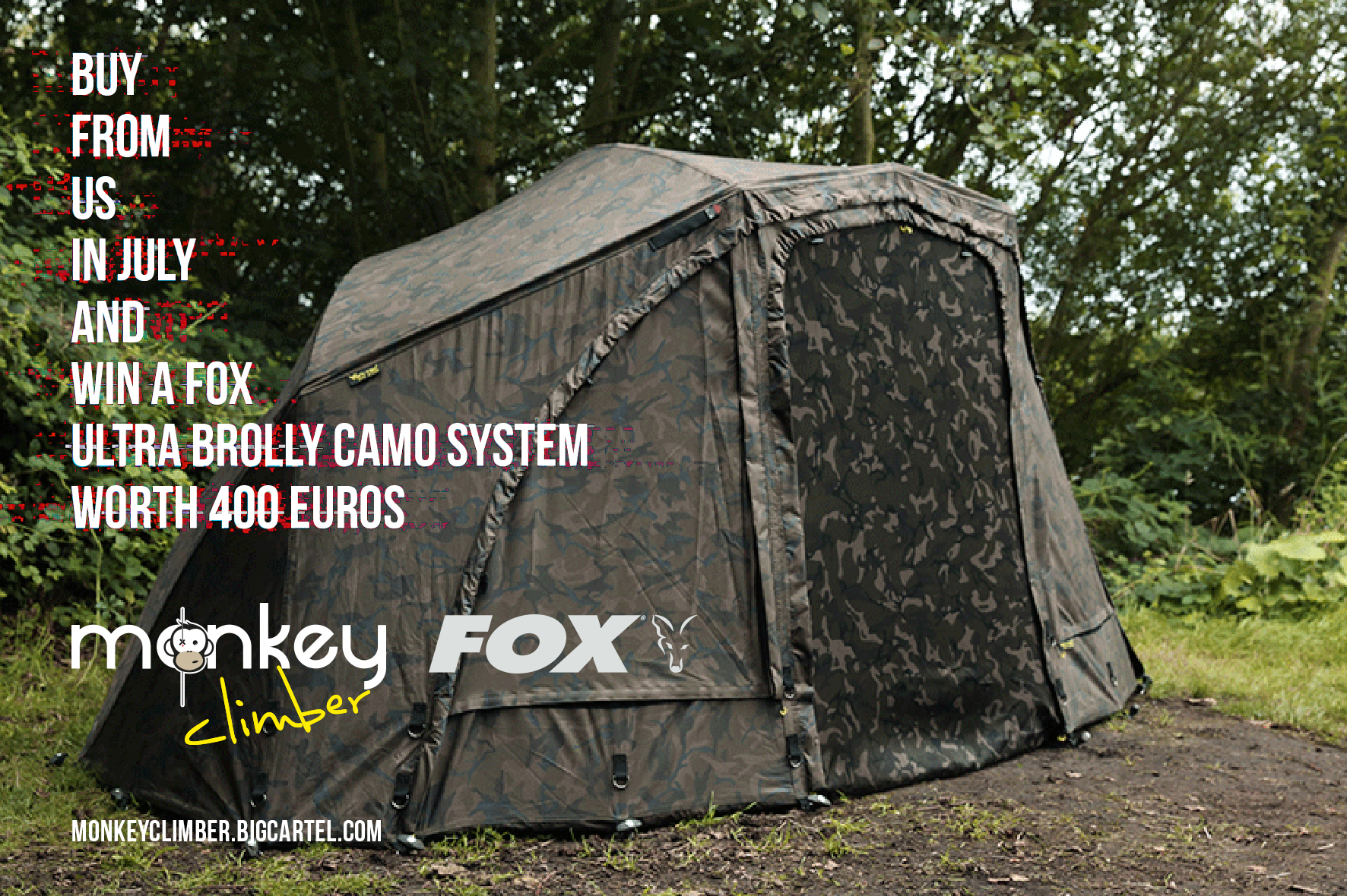 July competition: Win a Fox Ultra 60 Camo Brolly System worth 400 euros